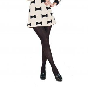 Ciorapi pantalon Alina Style-negru-aramiu