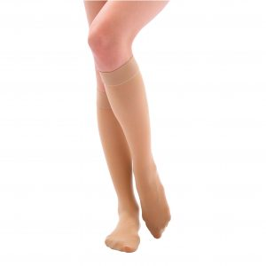 Ciorapi sub genunchi-bej